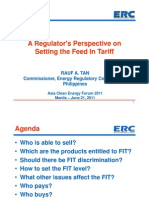 Rauf A. Tan - A Regulator's Perspective on Setting the Feed in Tariff