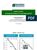 Ahmad Hadri Haris - Feed-In Tariff Driving Innovation & Cost Reductions