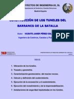 Construccion de Los Tuneles Del Barranco de La Batalla
