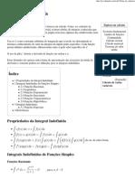 Tábua de integrais – Wikipédia, a enciclopédia livre