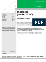 ReachLocal Equity Research Report