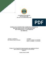 Modelo de gestión tesis