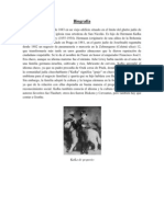Biografía franz kafka