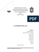 Yacimiento de Gas Seccion Carrea Ing Gas Seccion B Semestre V
