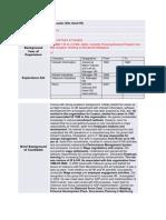 Asessment Sheet