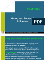 Group and Personal Influence