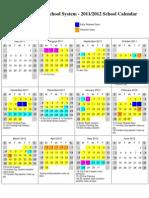 Jackson Calendar 2011-2012