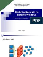 Osebni Pozarni Zid Na Sistemu Windows (prezentacija)
