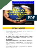 FIEM Fondo para la internacionalización de la empresa