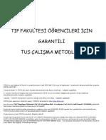 Garantili TUS Çalışma Programı
