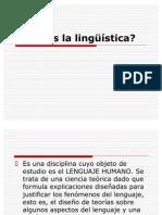 Qué es la lingüística
