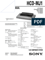 SONY HCD-MJ1 Service Manual