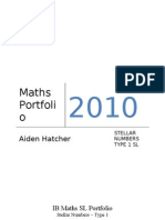 IB Maths SL Portfolio