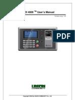 Virdi Fingerprint Reader AC4000 User Guide