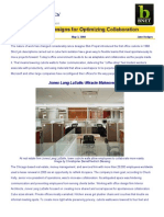 Office Designs for Optimizing Collaboration