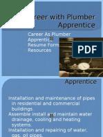 Making Plumber Apprentice Resume