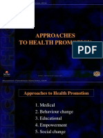 Approaches to Health Promotion