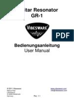 Vibesware Guitar Resonator GR-1 Bedienungsanleitung