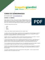 Corso Di Giardinaggio - Lezione 1