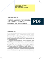 Thermo-Acoustic System Modelling and Stability Analysis