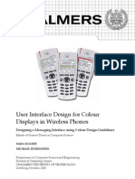 User Interface Design for Colour Displays in Wireless Phones