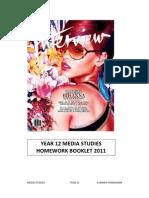 Year 12 Media Studies Homework Booklet
