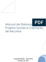 Manual de Elaboração de Projetos Sociais e Captação de Recursos vers 2011