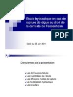 Etude sur le risque d'innondation de Fessenheim