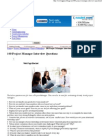 100 Project Manager Interview Questions