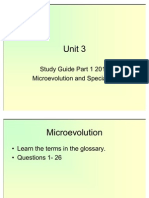 Unit 3 Study Guide Part 1 2011