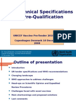 5 - WHO Technical Specifications and Pre-Qualification