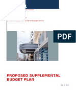 Fy11 Supplemental Budget Plan as of 0701112