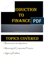 Intro to Finance
