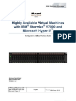 Highly Available Virtual Machines With IBM Storwize V7000 and Microsoft Hyper-V