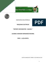 REPORTE SEVOMOTOR BALDOR