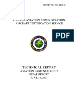 FAA Technical Report - Aviation Fastener Audit