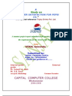 Pepsi Project on Marketing for Mba