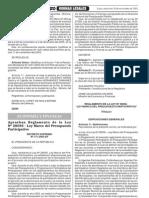 D.S.171 2003 EF,ReglamentodelaLeyNo28056 LeyMarcodelPresupuestoParticipativo