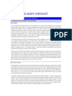 Marketing Audit Checklist