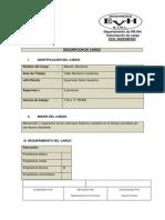 DESCRIPCION DE CARGO mecánico