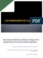 Variedades de lenguas y español