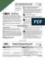 IRS form 4868