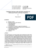 Commitment Decisions under the Polish Competition Act – Enforcement Practice and Future Perspectives