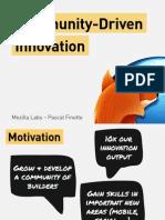 Community Driven Innovation (Web FWD by Mozilla)