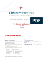 VC Backed MA Snapshot Q2 2011
