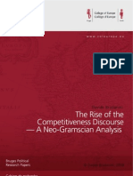The Rise of the Competitiveness Discourse—A Neo-Gramscian Analysis