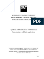 Zhanfeng_Zheng_Thesis Synthesis and Modifications of Metal Oxide Nano Structures and Their Applications