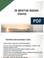 Bentuk-Bentuk Badan Usaha (3)