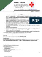 Anunt Concurs Medic Specialist Neurologie 01212011