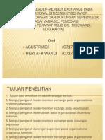 Pengaruh Leader-member Exchange Pada Organizational Citizenship Behavior